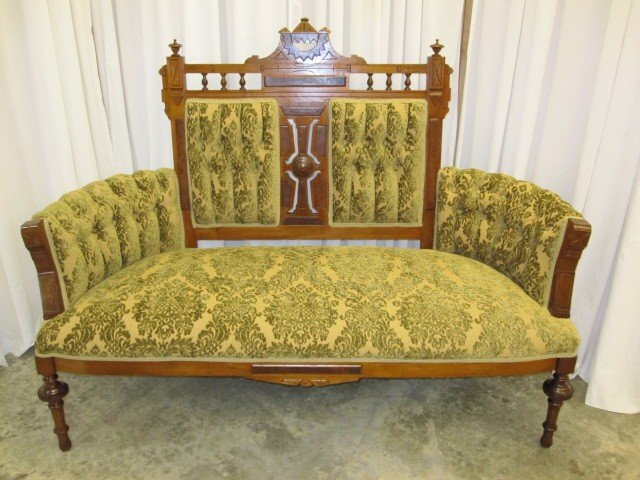 Mint Antique Eastlake Sofa With 2 Matching Chairs   For Sale