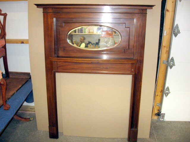 1930 Mahogany Fireplace Mantel Mantle From England For