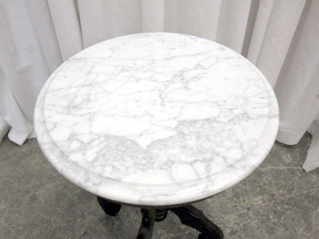 We Have For Sale An Extra Nice Small Round Victorian Style Italian Marble  Top Table By Kimball. The Mahogany Table Dateu0027s From The 70u0027s. Probably Was  Used ...