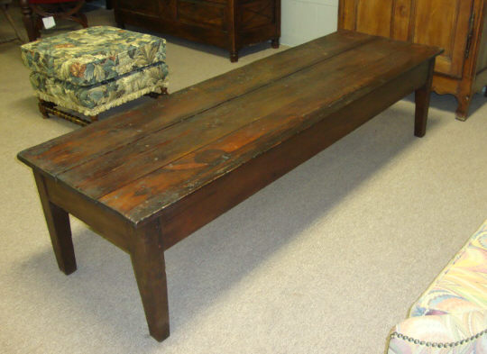 19th Century French Antique Pine Coffee Table For Sale Classifieds