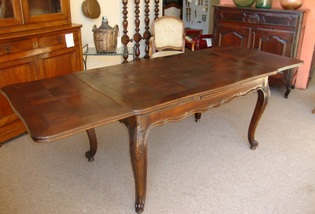 French Antique Louis Xv Provencal Style Walnut Table For Sale