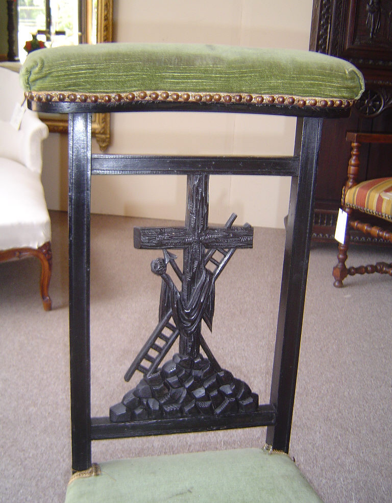 This is a very cute Prayer Chair made from solid beech wood by the end of  the reign of Napoleon III. This adorable piece is representing the Easter  Cross as ... - 19th Century French Antique Napoleon III Period Easter Prayer