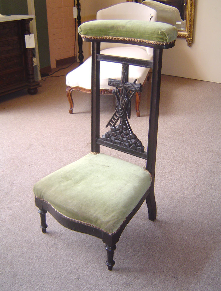 19th century french antique napoleon iii period easter prayer chair for sale. Black Bedroom Furniture Sets. Home Design Ideas
