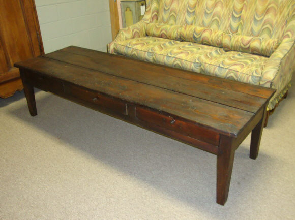 Th Century French Antique Pine Coffee Table For Sale Antiques - Pine coffee table for sale