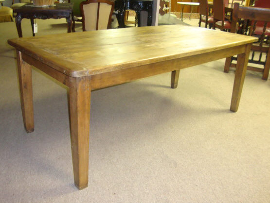 18th Century French Antique Pine Farm Table For Sale Antiques