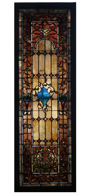 Antique Leaded Stained Glass Window For Sale Antiques
