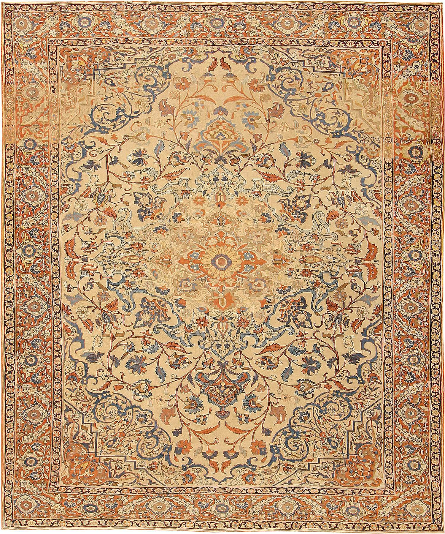 Antique Tabriz Persian Rug 41890 For Sale