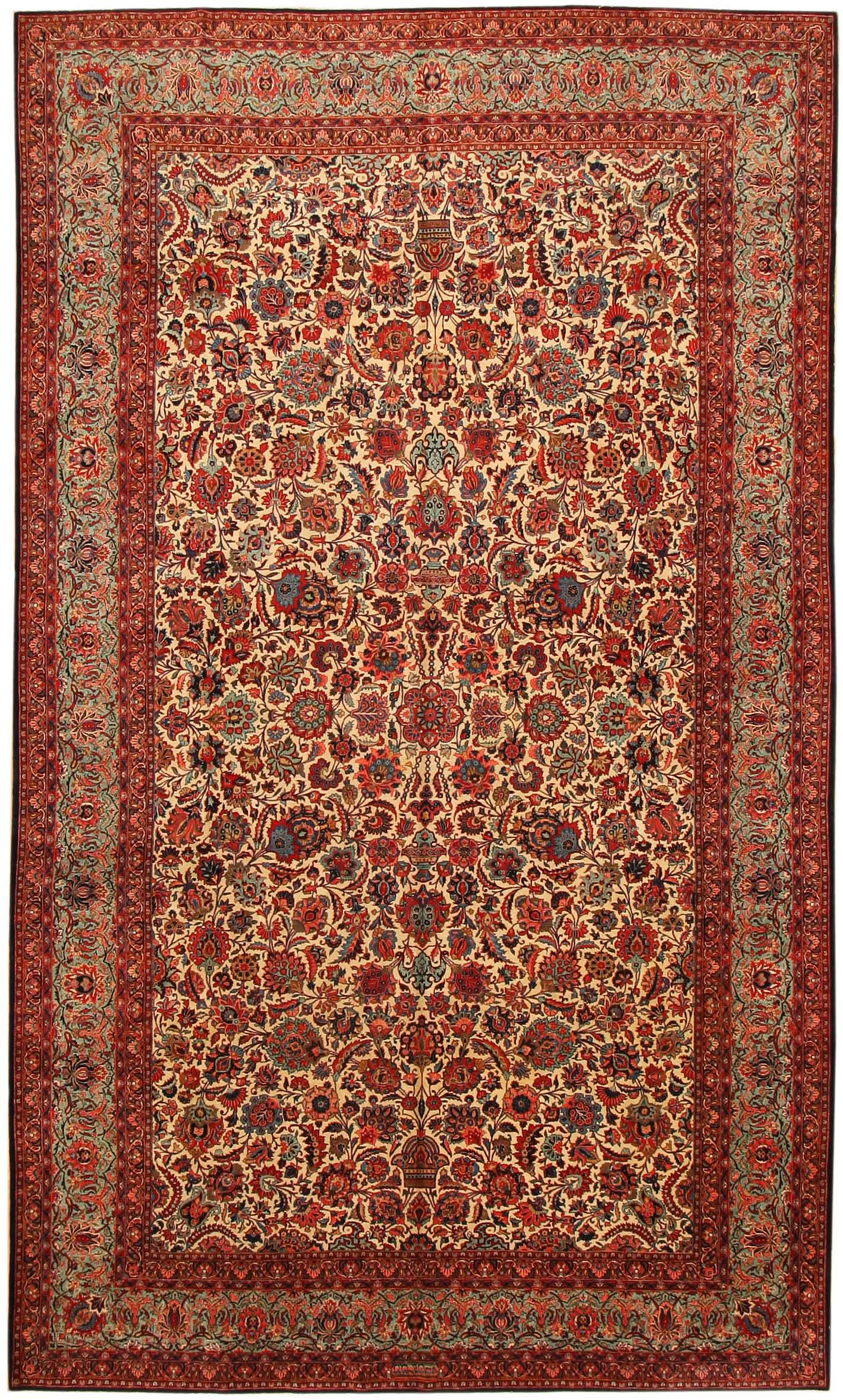 Antique kashan persian rug 43599 for sale for Cheap persian rugs nyc