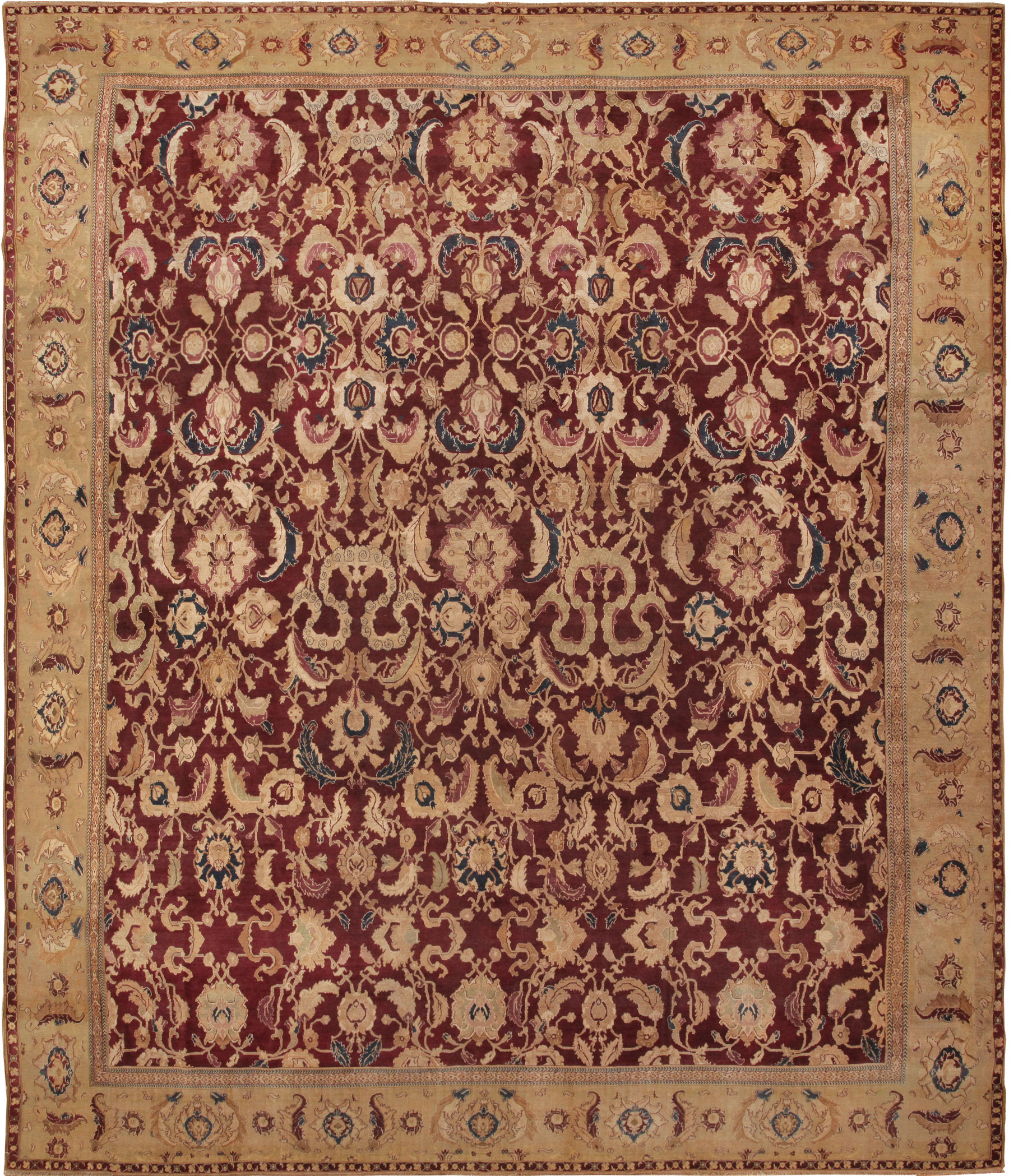 Arts And Crafts Rugs With Exciting Indian Agra Rug Design: Antique Agra Oriental Rugs 44604 For Sale