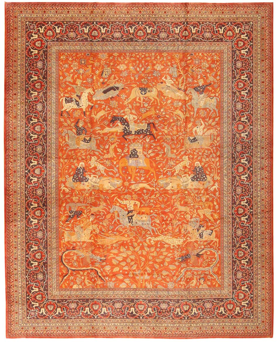 Antique Indian Oriental Rug 42295 For Sale
