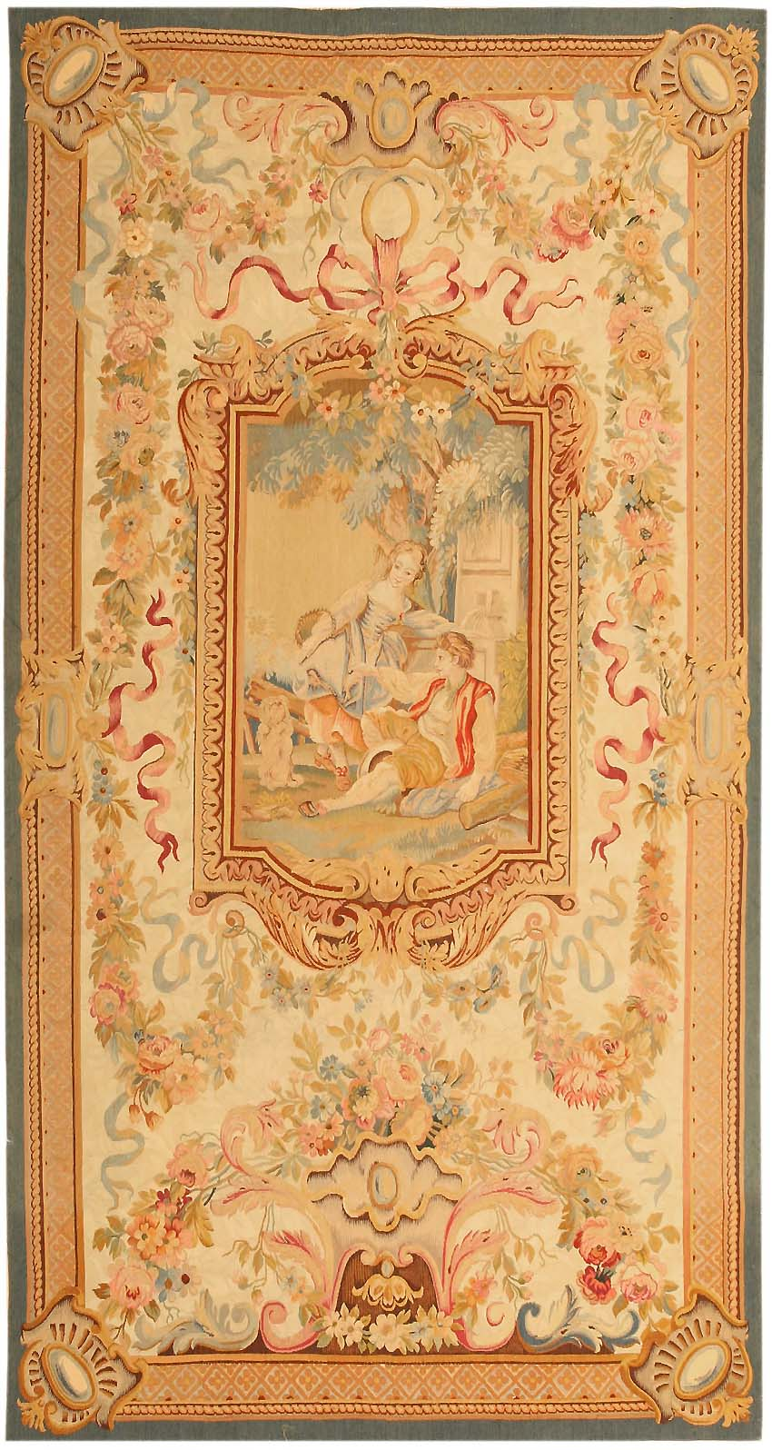Antique English Tapestry Rug 43936 For Sale Antiques Com