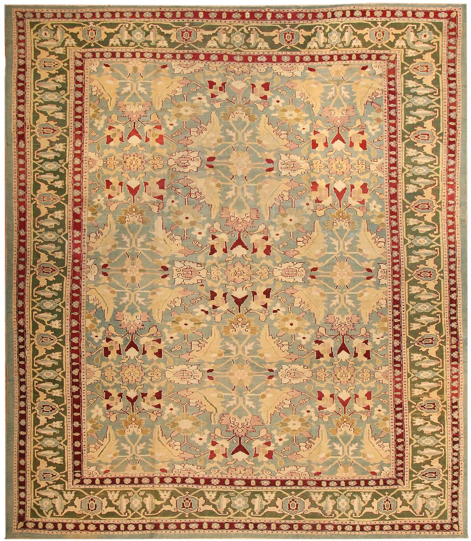Antique Agra Oriental Rugs 43611 For Sale