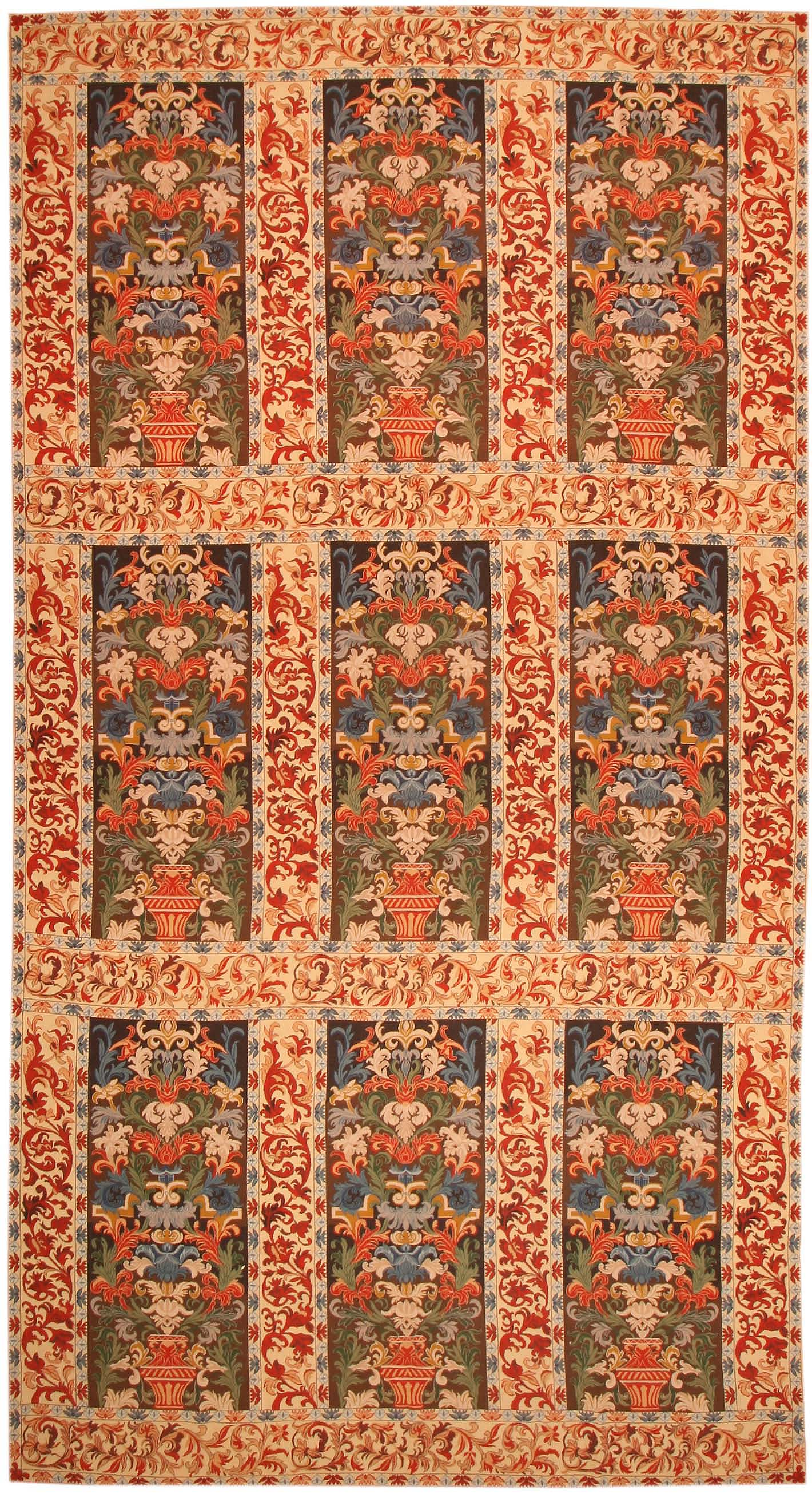 French Oriental Rugs : Antique needlepoint french oriental rug for sale