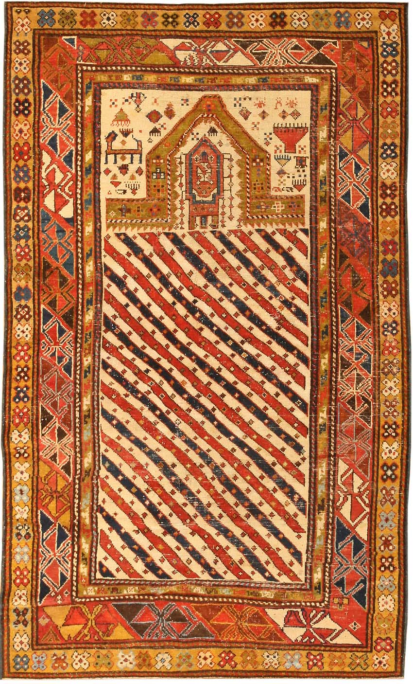 Antique Dagestan Prayer Rug Late Nineth Century This Is Exceptional For The Quality Of Its Color And Design