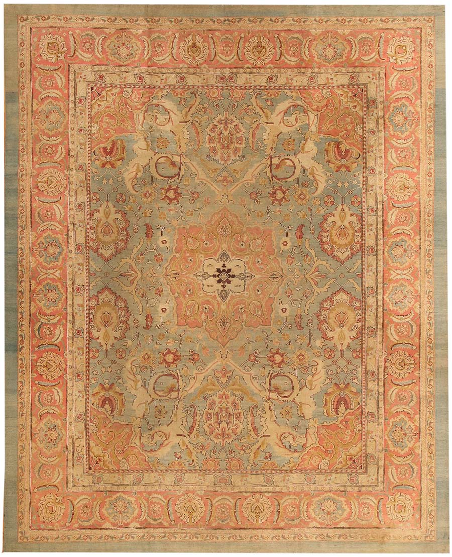 Arts And Crafts Rugs With Exciting Indian Agra Rug Design: Antique Agra Oriental Rugs 43693 For Sale
