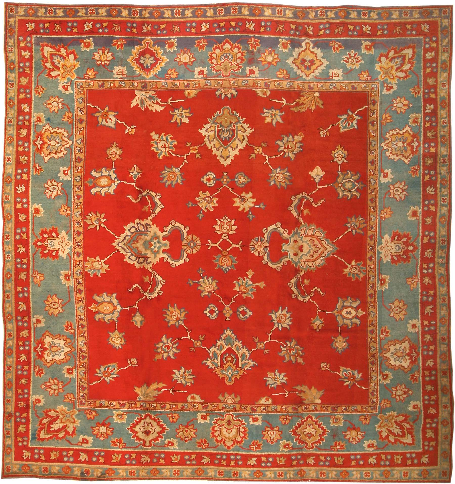 Antique Donegal Irish Rug 3328 For Sale