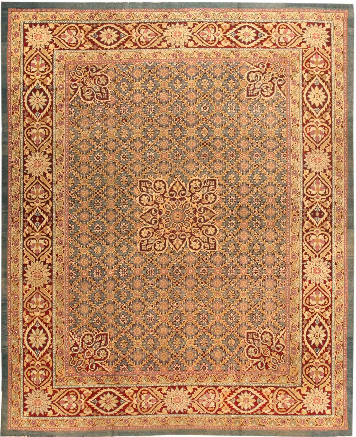 Arts And Crafts Rugs With Exciting Indian Agra Rug Design: Antique Agra Oriental Rugs 42144 For Sale
