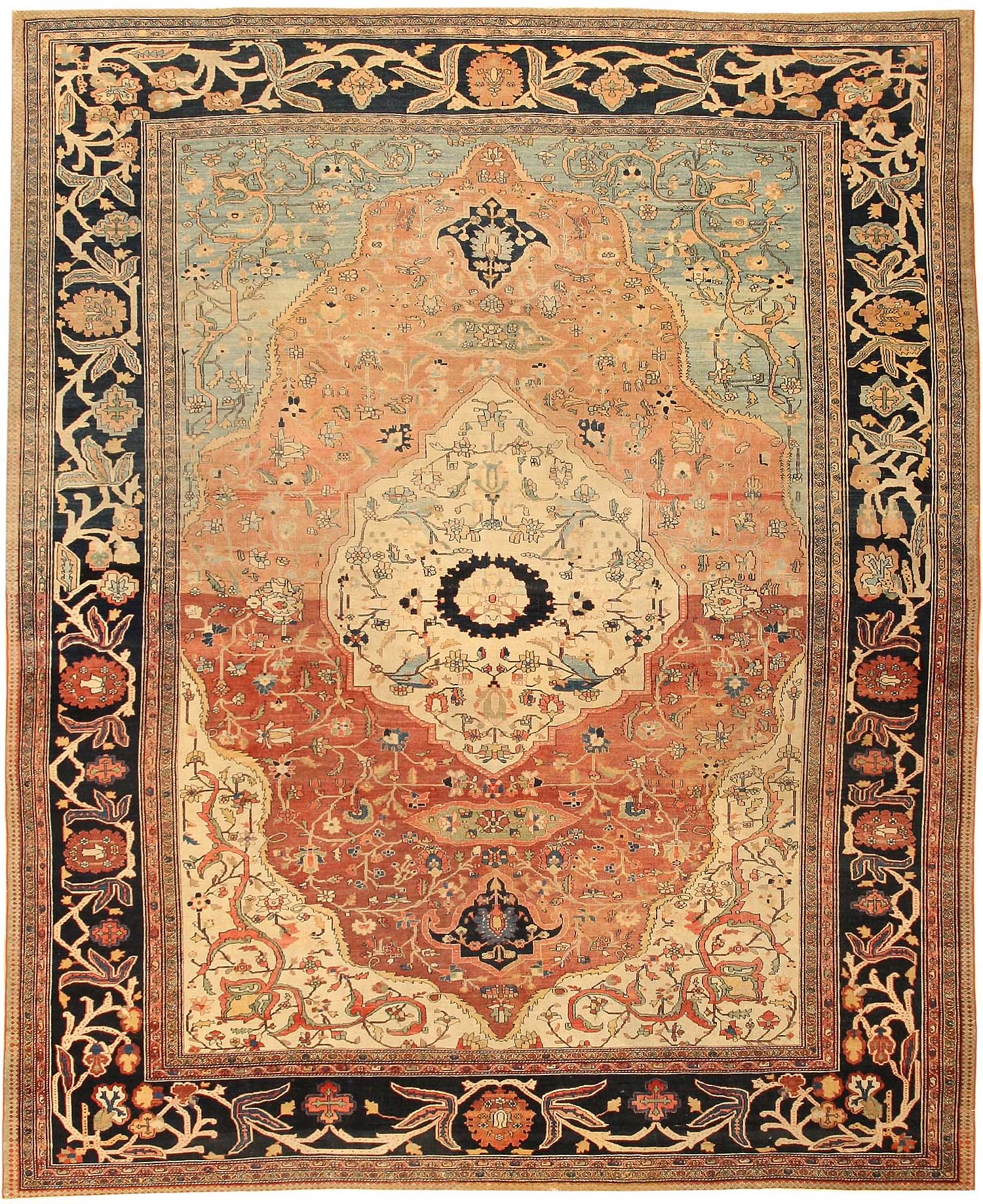 Persian Rugs For Sale: Antique Sarouk Farahan Persian Rug 43371 For Sale