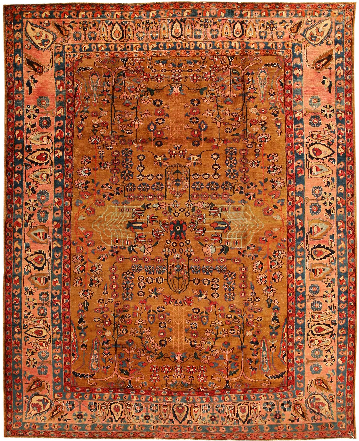 A Mystic Forest Of Brown And Gold Hues, This Sultanabad Rug Exhibits The  Height Of
