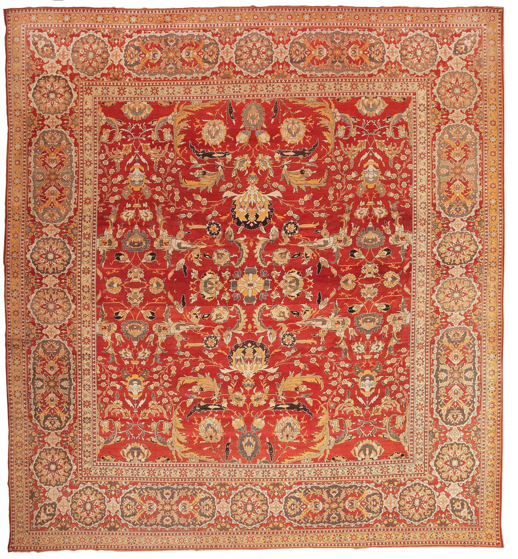 Antique Agra Oriental Rug 44615 For Sale