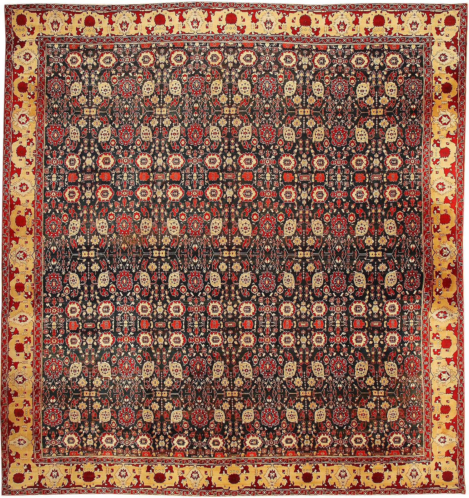 Arts And Crafts Rugs With Exciting Indian Agra Rug Design: Antique Agra Oriental Rugs 43422 For Sale
