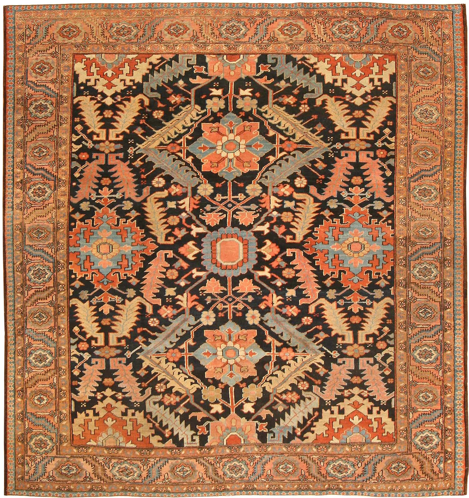 Persian Rugs For Sale: Antique Heriz Serapi Persian Rugs 43247 For Sale