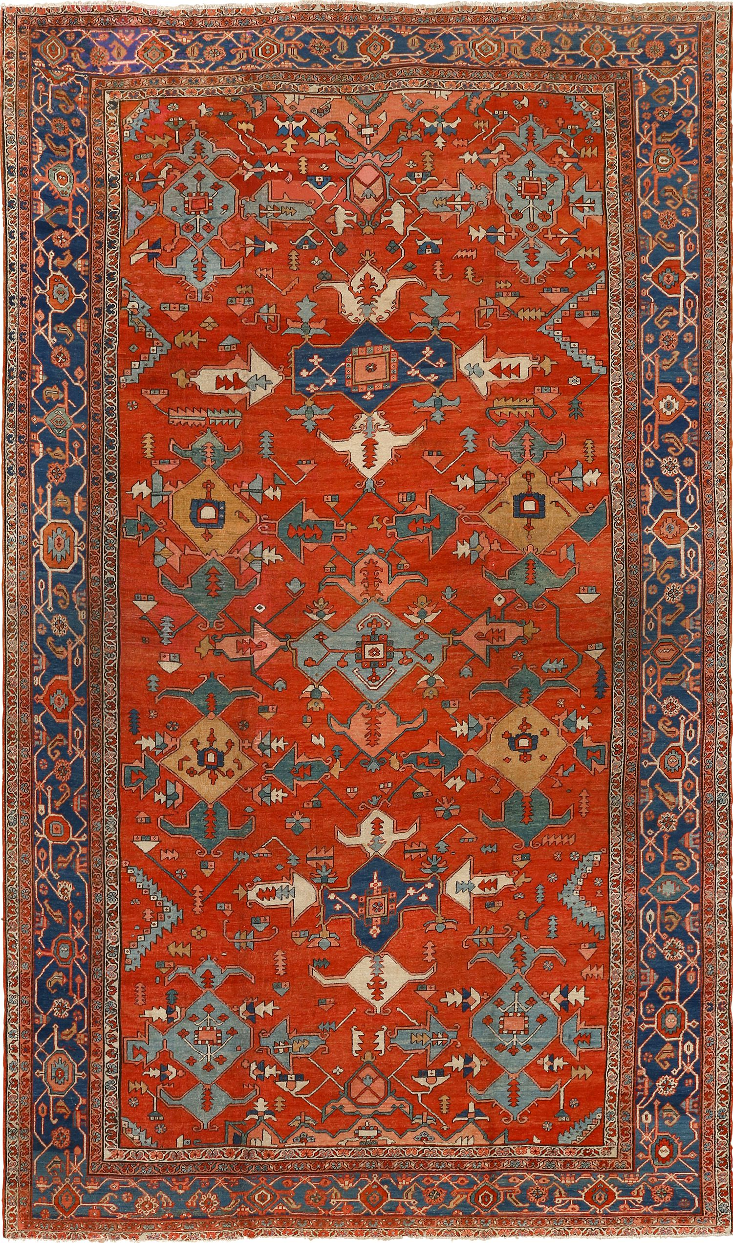 Large Red Antique Serapi Persian Rug 51121 For Sale Antiques Com