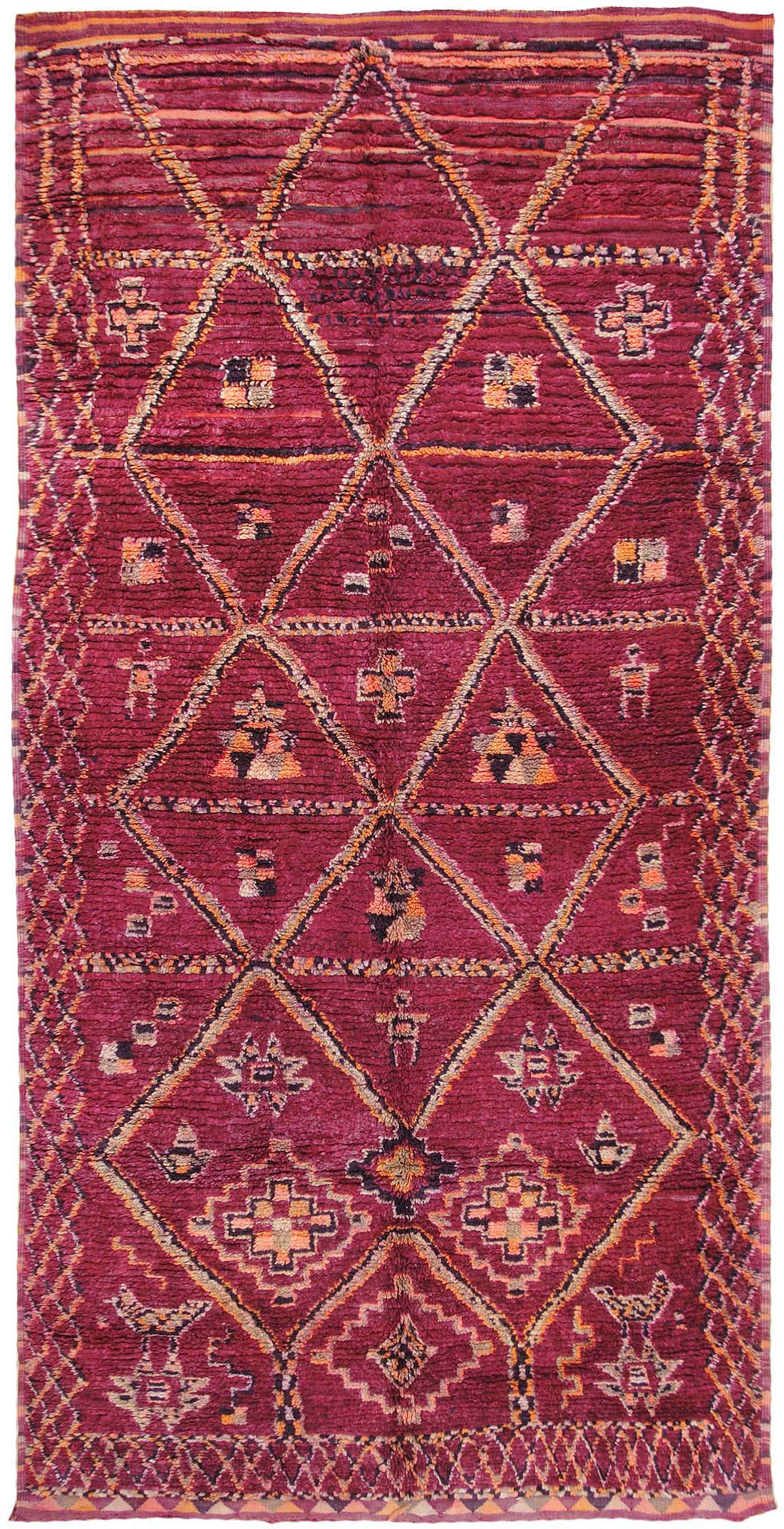 Vintage Moroccan Oriental Rugs 44464   For Sale