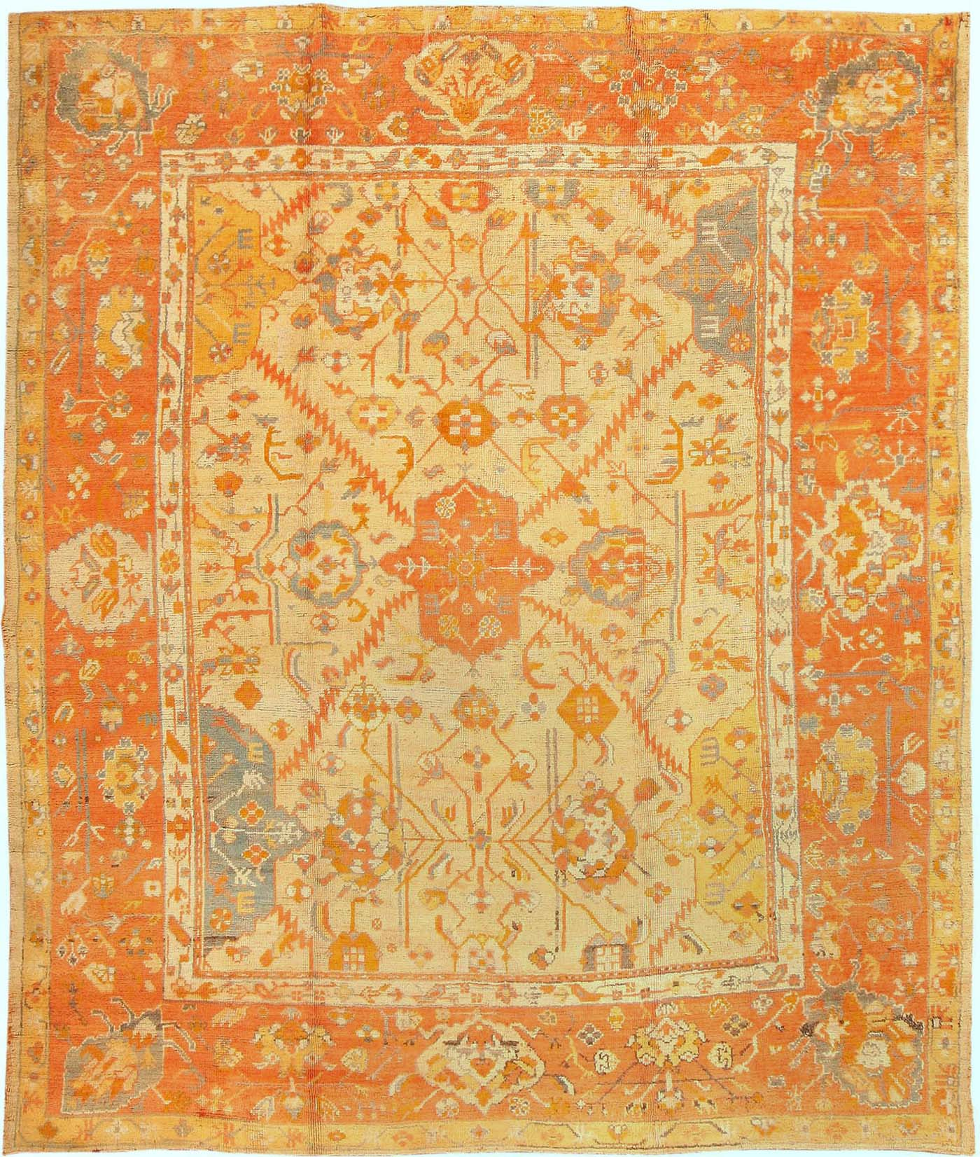 Antique Oushak Turkish Rug 3040 For Sale Antiques Com