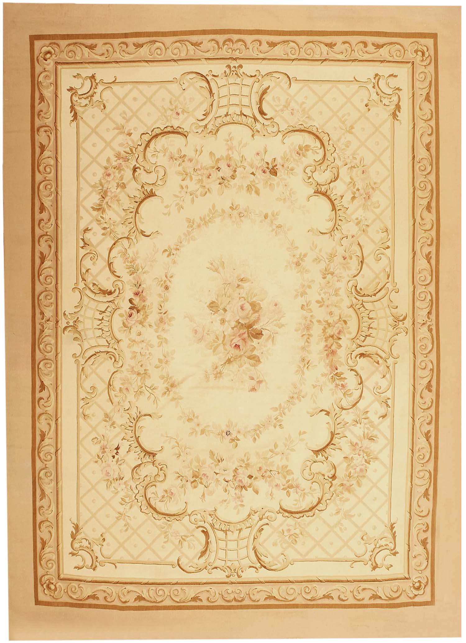 Antique Aubusson French Carpet 3086 For Sale Antiques
