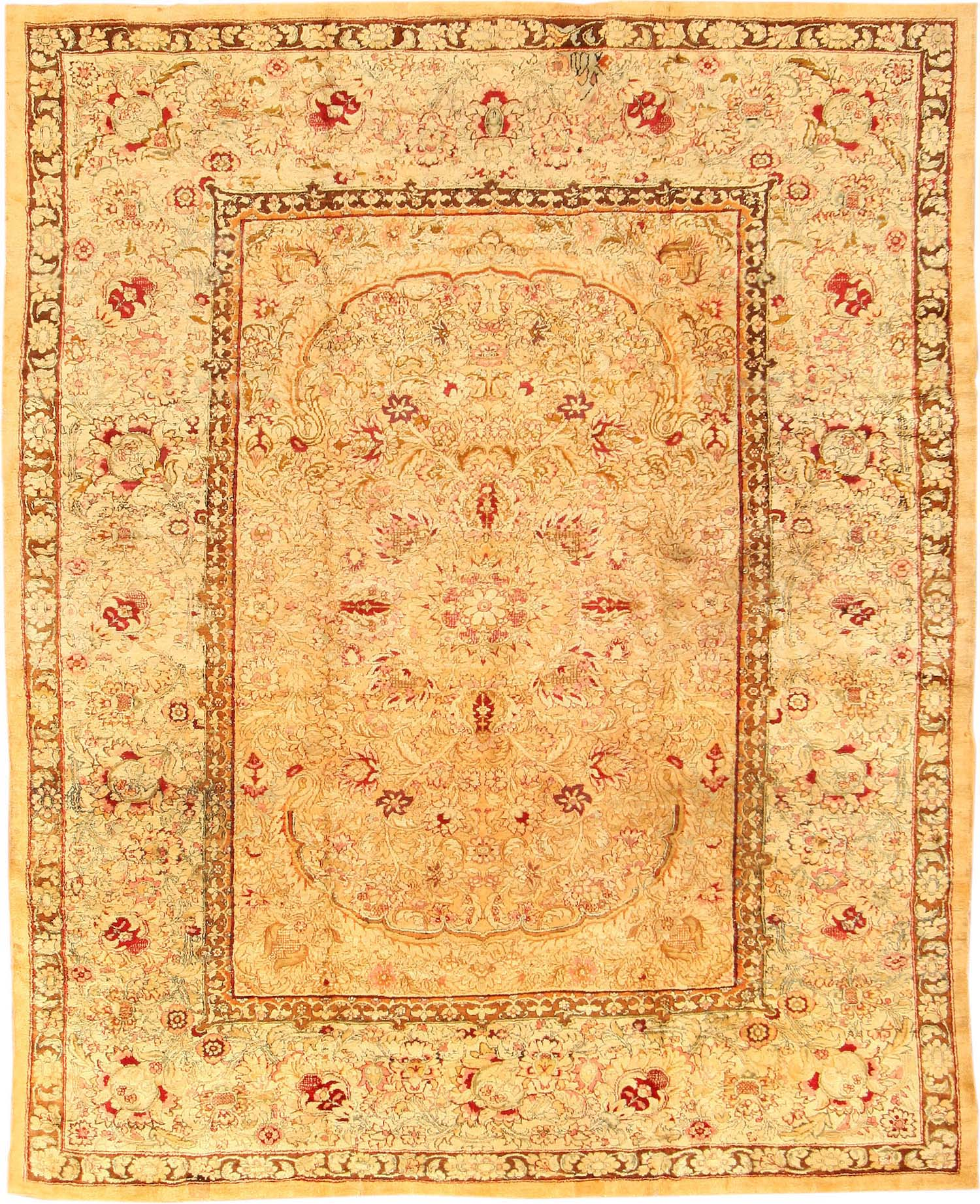 Arts And Crafts Rugs With Exciting Indian Agra Rug Design: Antique Agra Oriental Rugs 40423 For Sale