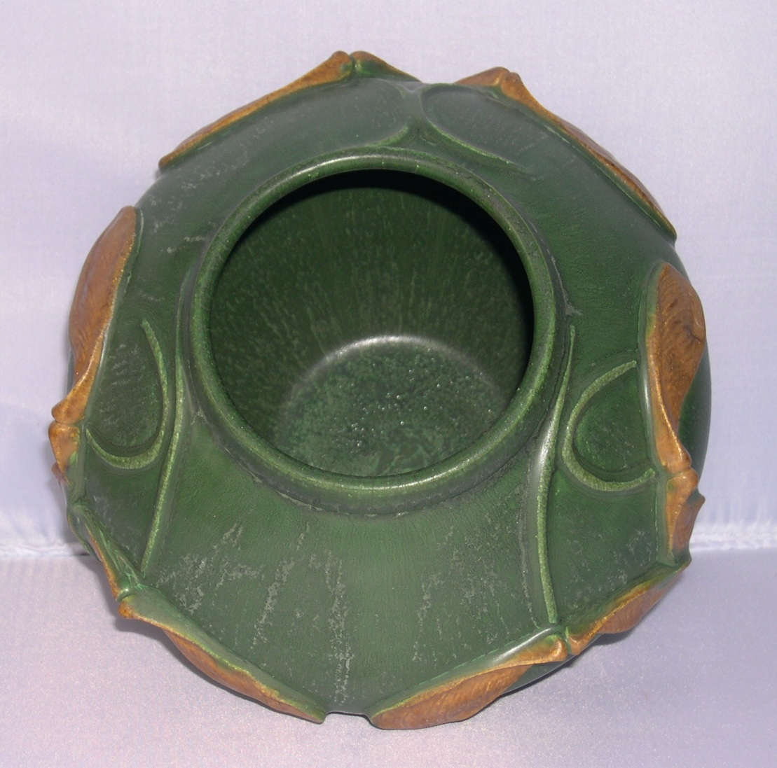Door pottery arts crafts matte green whirly gig vase for for Arts and crafts for sale