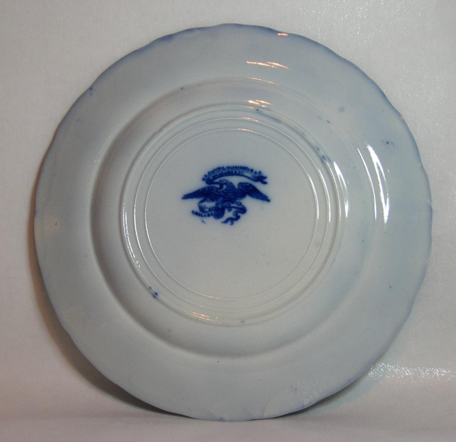 Antique adams flow blue washington dc souvenir plate for