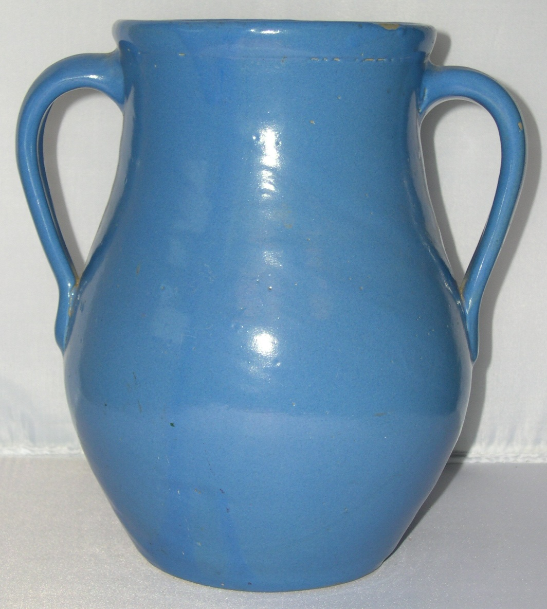 Antique arts crafts matte blue zanesville pottery vase for for Arts and crafts for sale