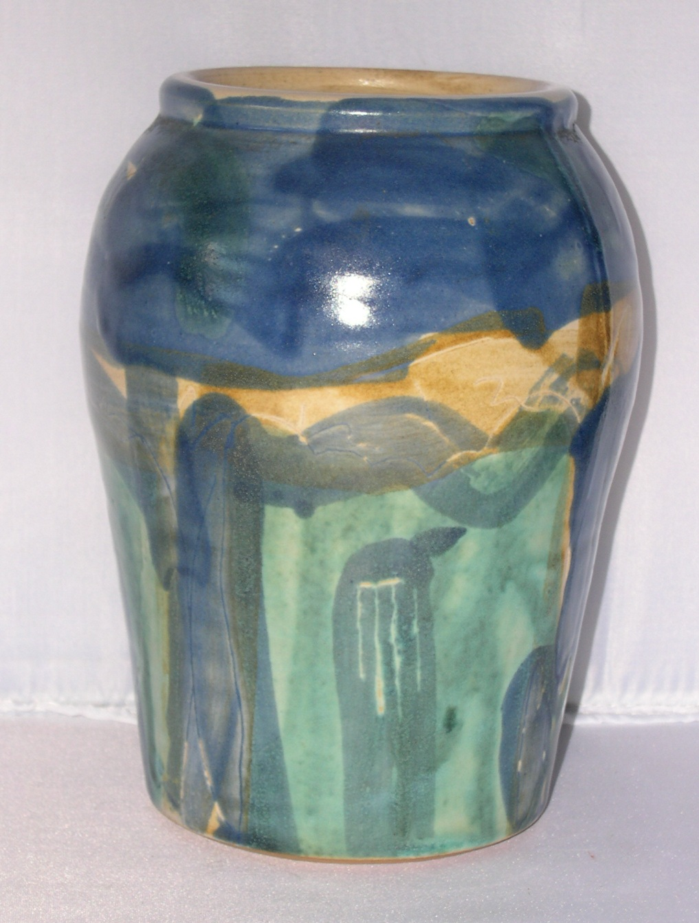 Antique arts crafts matte glaze pottery vase signed for for Arts and crafts pottery