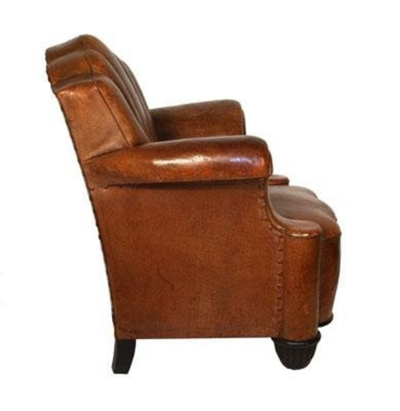 Fabulous art deco leather club chair h33636675 for sale for H furniture ww chair