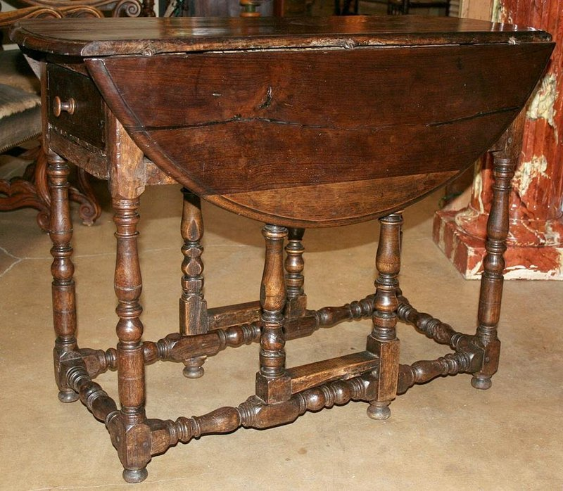 Rustic French Gate Leg Table Pmrr6142 For Sale