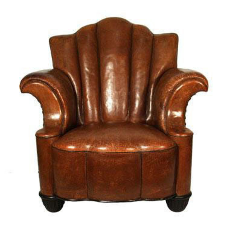 Fabulous Art Deco Leather Club Chair H33636675 For Sale Classifieds
