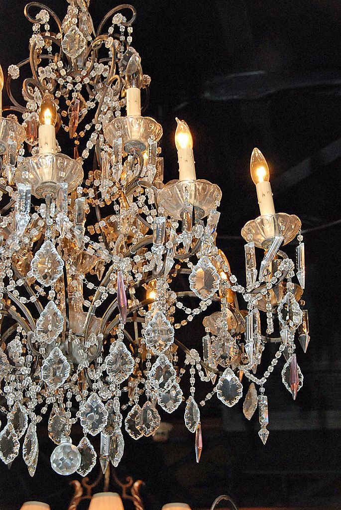 French Crystal Chandelier For Sale