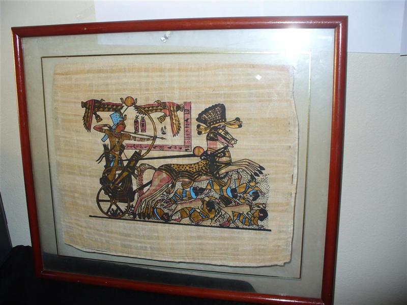TWO ORIGINAL EGYPTIAN PAPYRUS - EGYPTIAN PHARAOHS GOLD For Sale ...