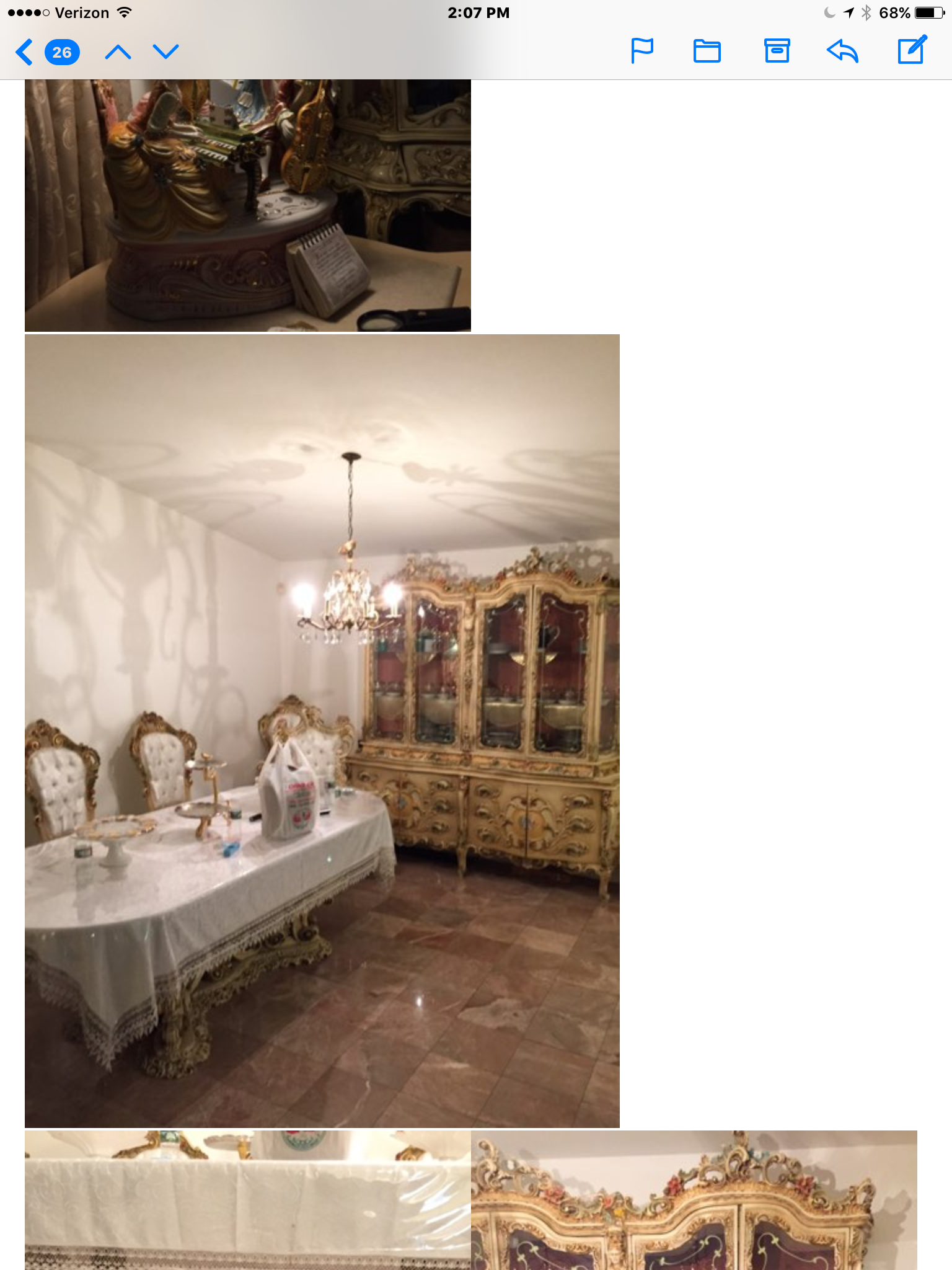 Italian Provincial Made In Italy Imported Dining Room Set Large Sizes Table 7 Reupholstered Chairs With Plastic 3 Captain Chairs4 Side China