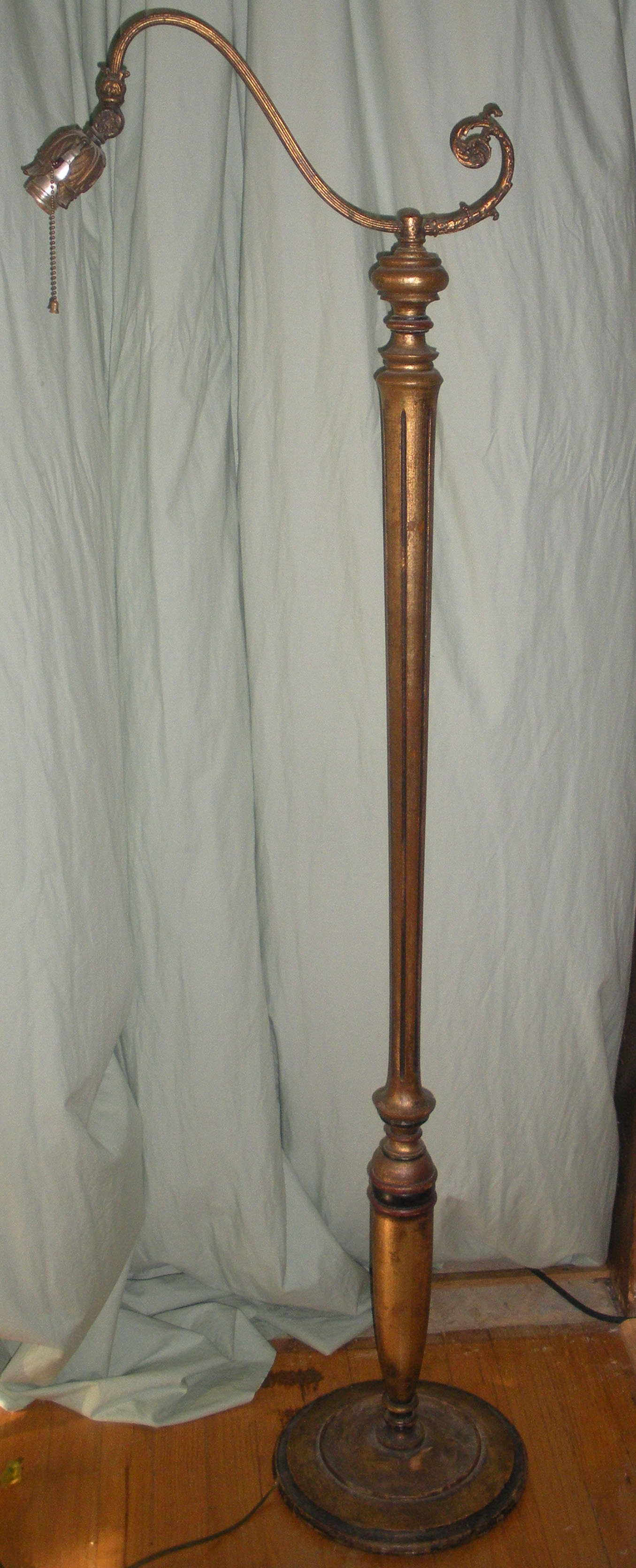 Vintage Bridge Neck Floor Lamp For Sale Antiques Com