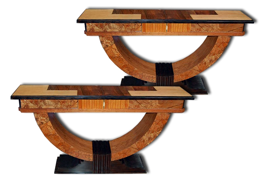 Art deco console tables for sale for Table de nuit art deco