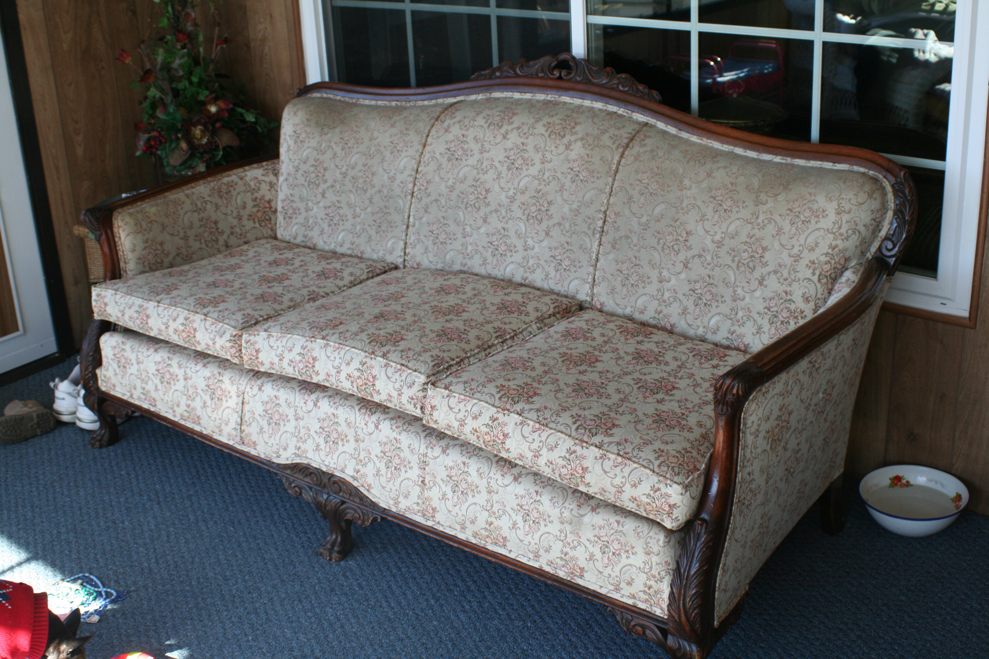 Carved Victorian Sofa And Armchair For Sale Antiques Com