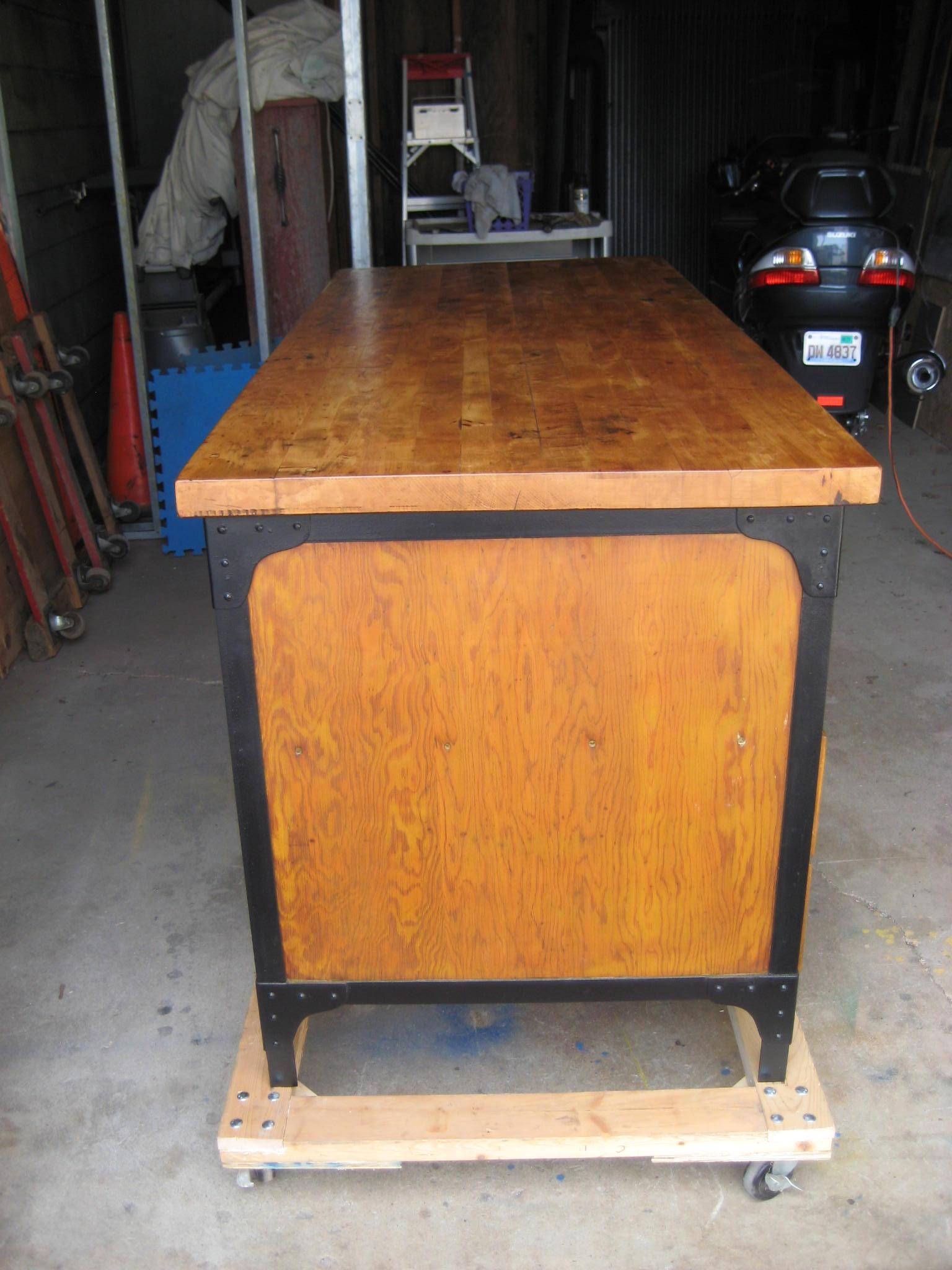 Astounding Vintage Industrial Work Bench For Sale Antiques Com Frankydiablos Diy Chair Ideas Frankydiabloscom