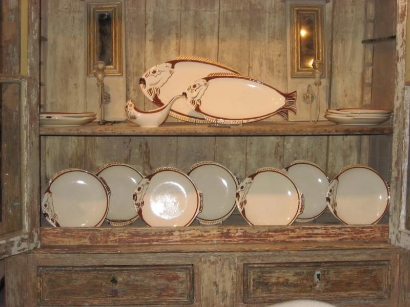 Quimper fish service for sale classifieds for Decoration maison quimper