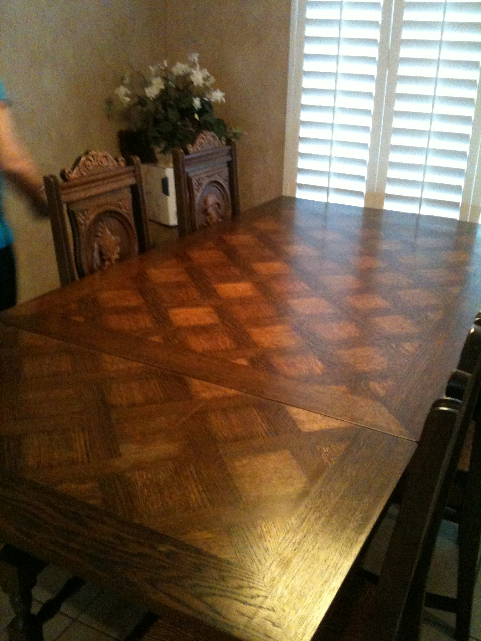 Brittany France circa 1900 carved dining room table and six chairs ...