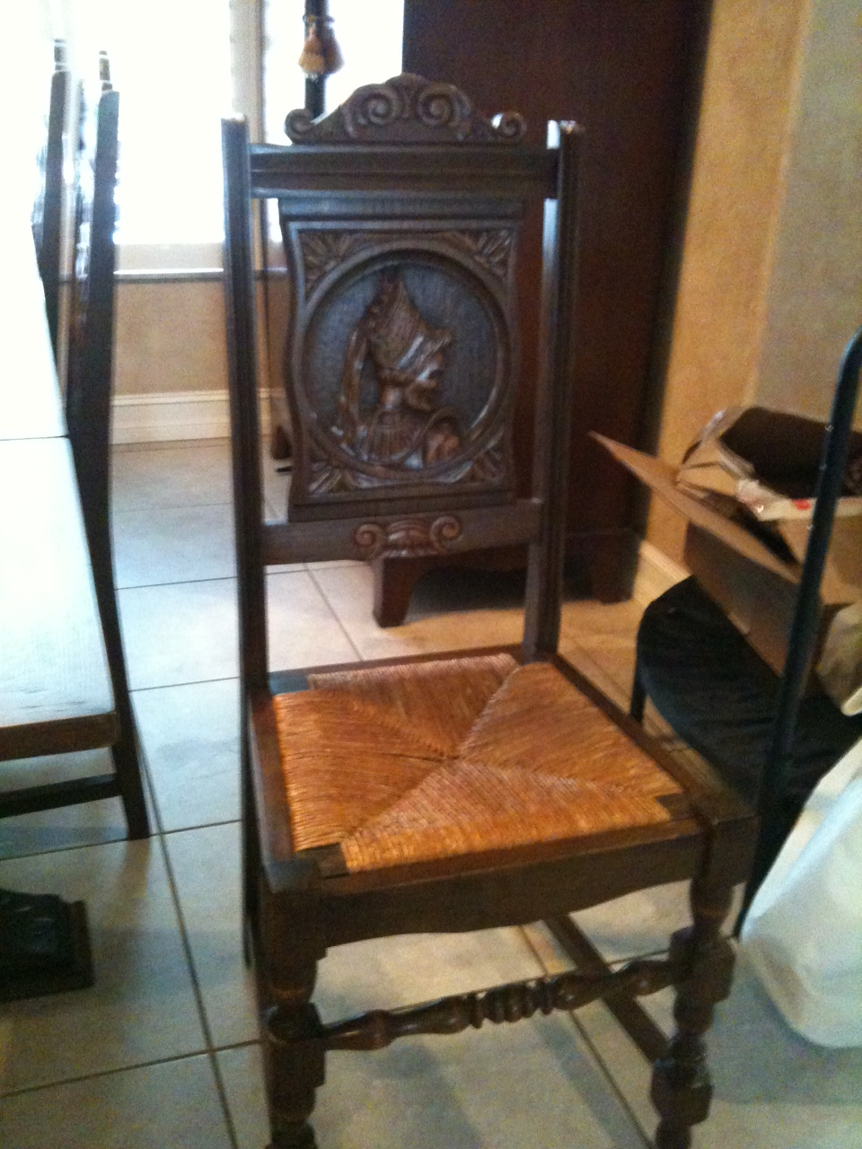 Brittany France Circa 1900 Carved Dining Room Table And