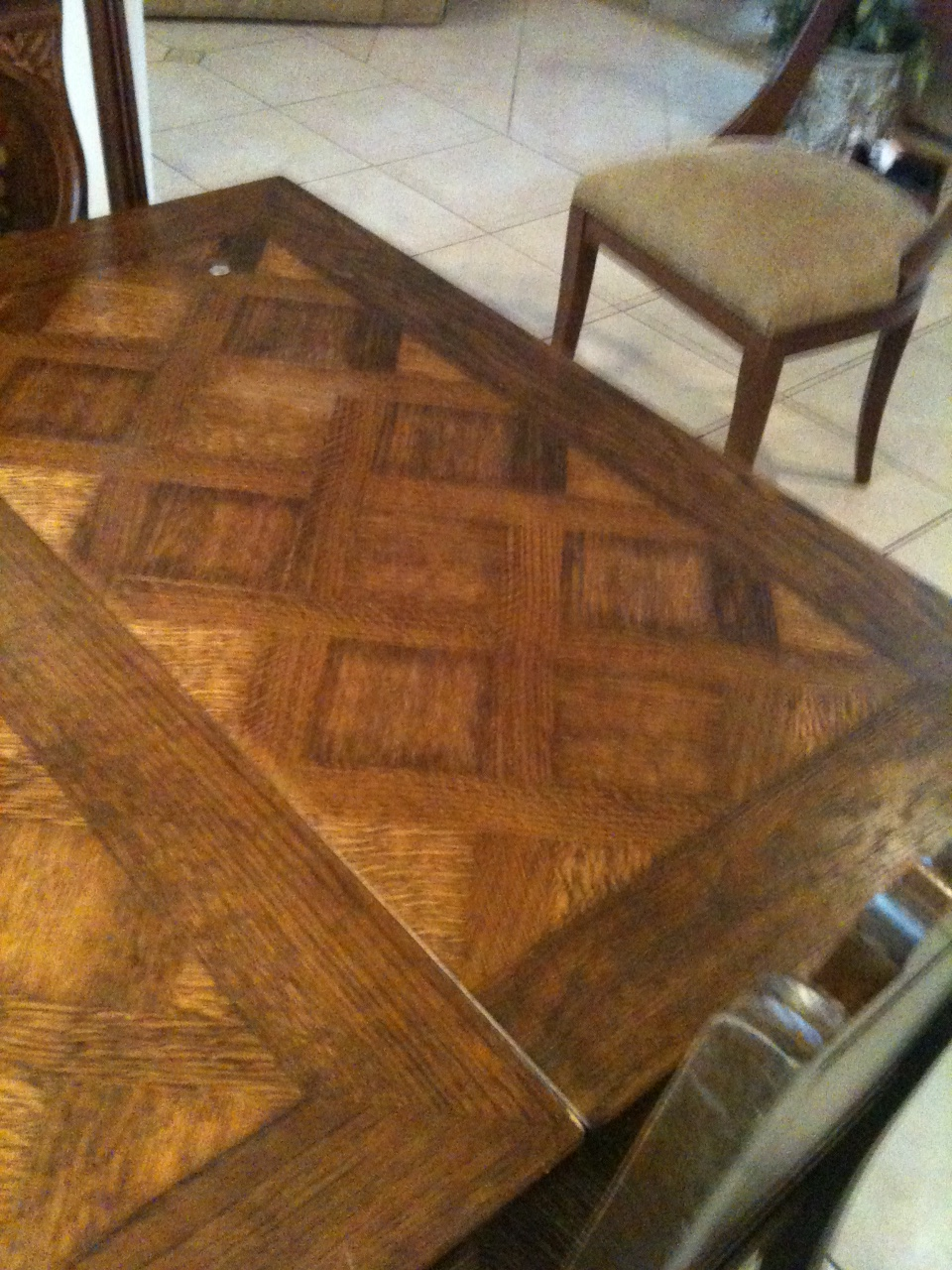 brittany france circa 1900 carved dining room table and six chairs