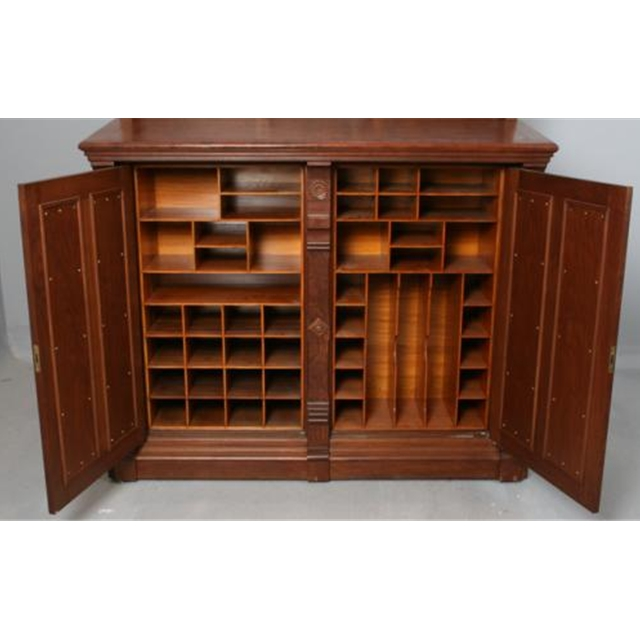 Antique Moore Combination Cabinet Desk C 1878 For Sale
